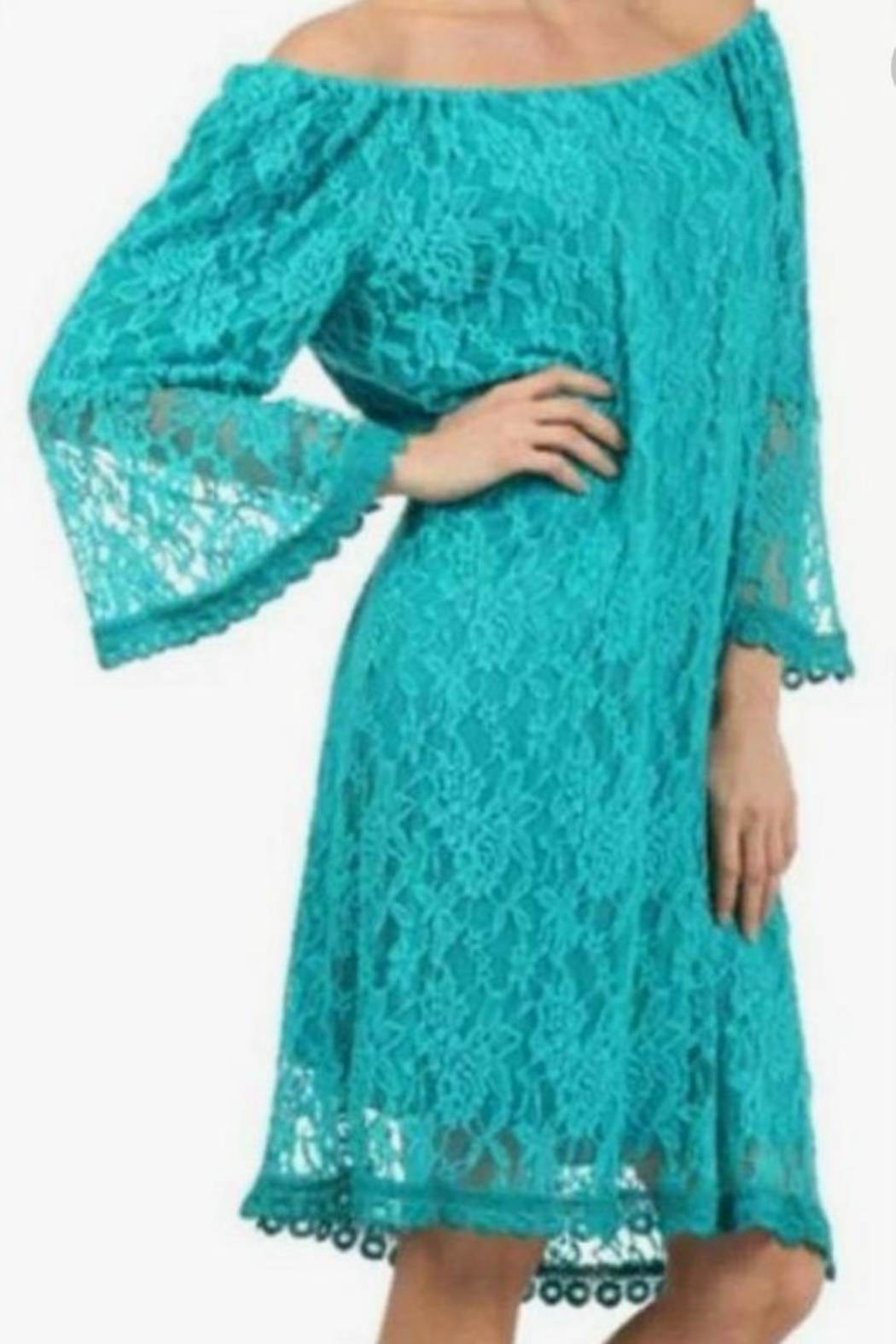 L&B Lace Off-The-Shoulder Tunic - Main Image