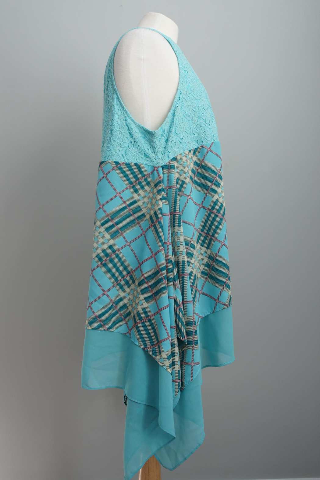 L&B Plaid Lace Tunic - Front Full Image