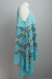 L&B Plaid Lace Tunic - Front full body