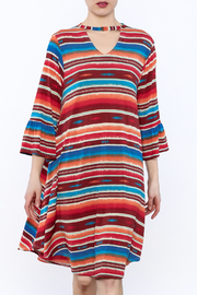 L&B Stripe Long Sleeve Dress - Product Mini Image