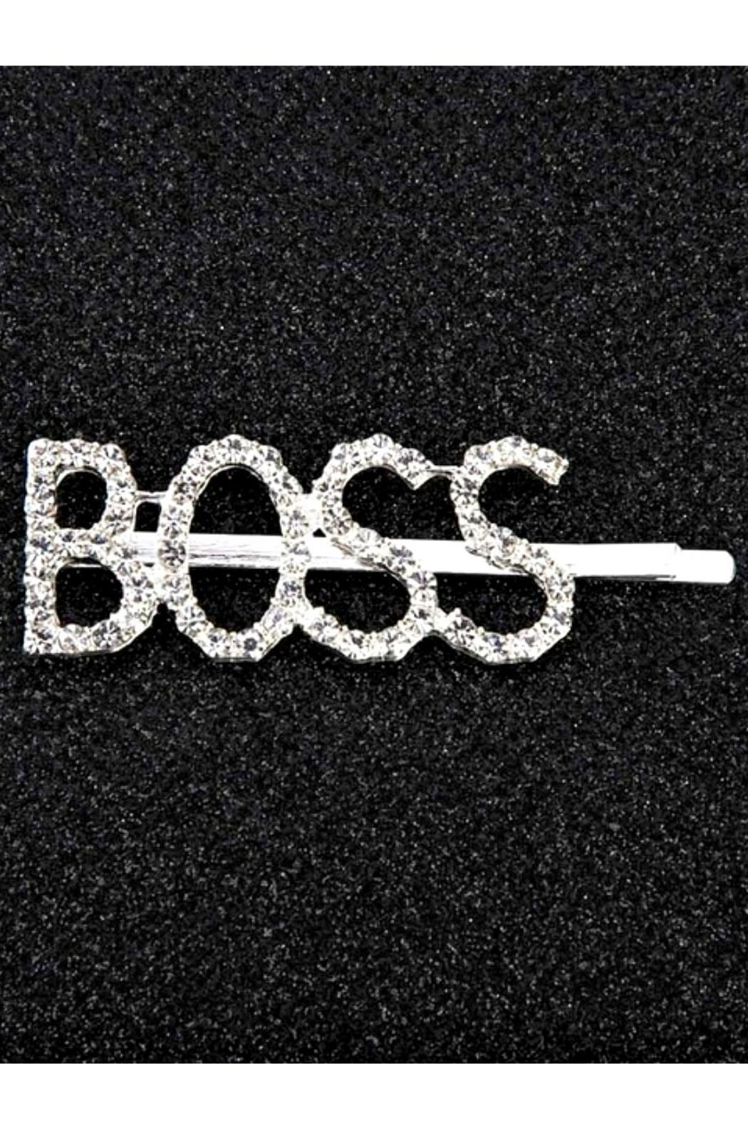 L'Imagine Boss Hair Barrette - Front Cropped Image