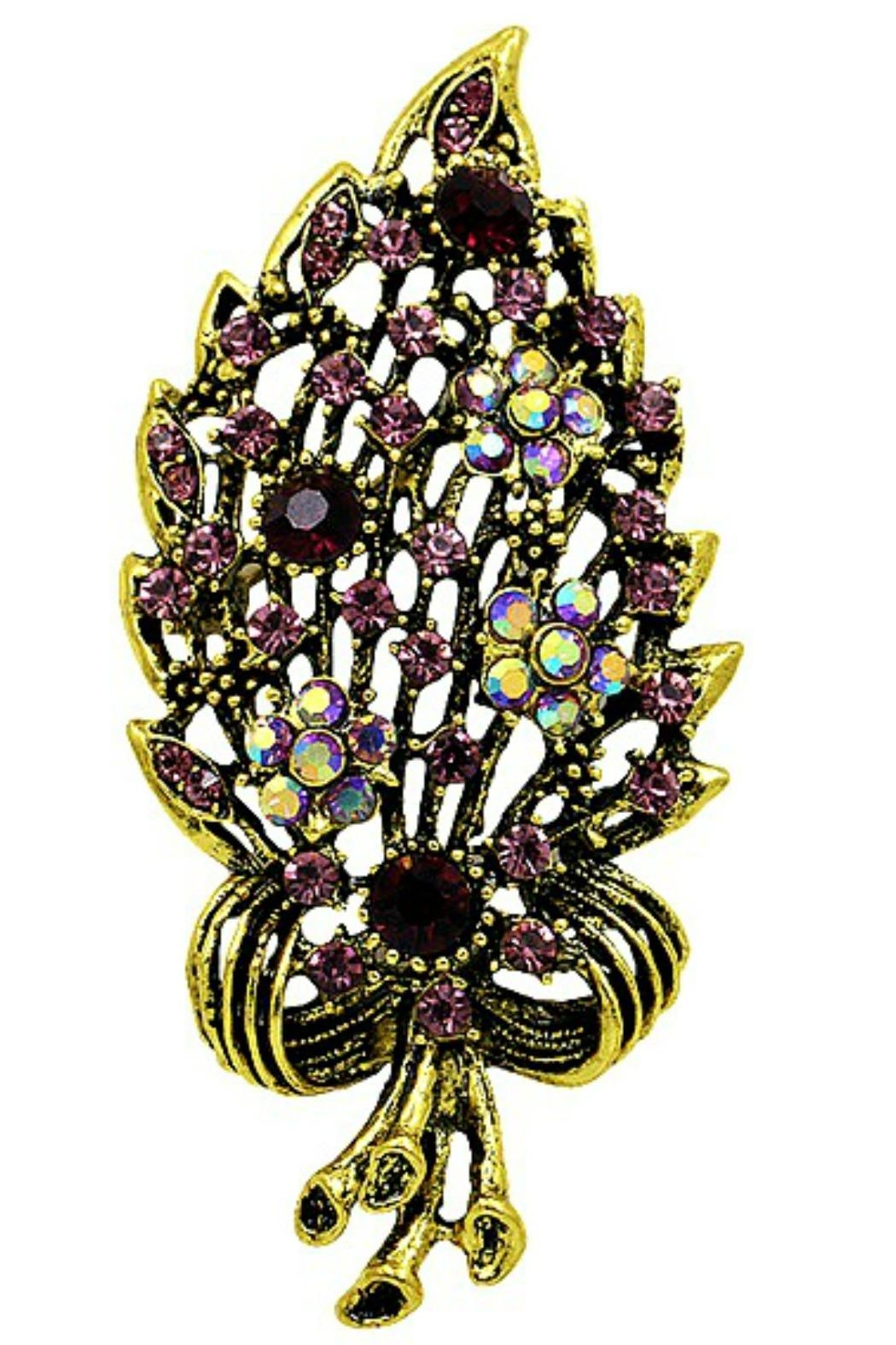 res hi brooch pin jewel cleo butterfly black rhodium