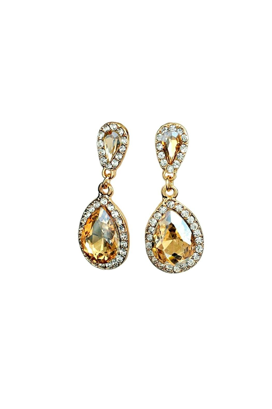 L'Imagine Champagne Teardrop Earrings - Main Image