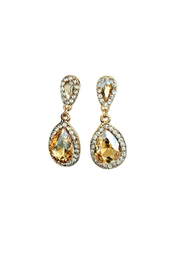 L'Imagine Champagne Teardrop Earrings - Alternate List Image