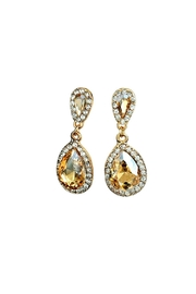 L'Imagine Champagne Teardrop Earrings - Front cropped