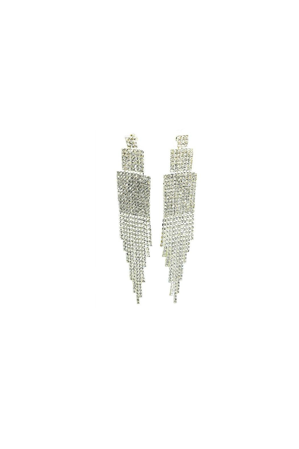L'Imagine Crystal Tassel Earrings - Front Cropped Image