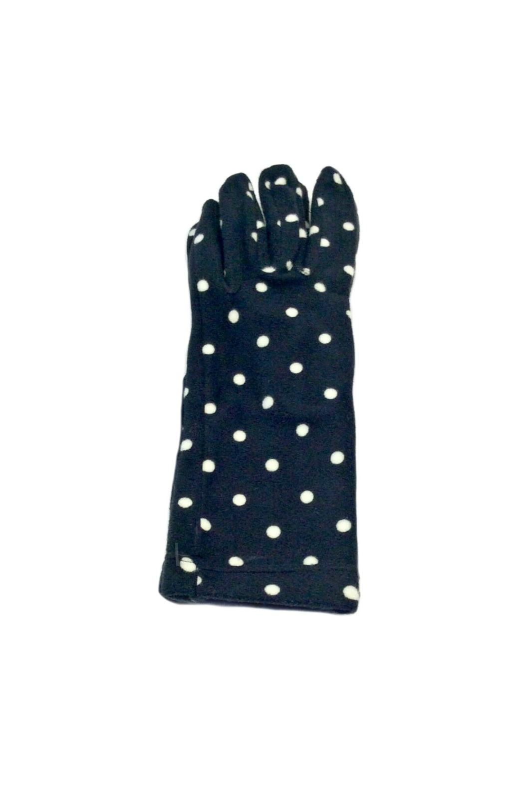 L'Imagine Dots Knit Gloves - Front Cropped Image
