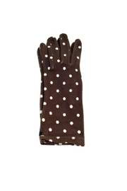 L'Imagine Dots Knit Gloves - Front cropped