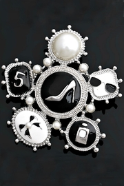 L'Imagine Fashion Enamel Brooch - Product Mini Image