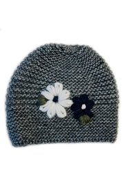 L'Imagine Flower Knit Beanie - Front cropped
