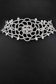 L'Imagine Flower Rhinestone Choker - Side cropped