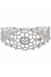 L'Imagine Flower Rhinestone Choker - Product Mini Image