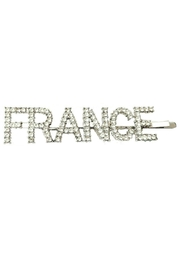 L'Imagine France Jewel Barrette - Front cropped
