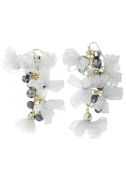 L'Imagine Grey Chiffon Earrings - Product Mini Image