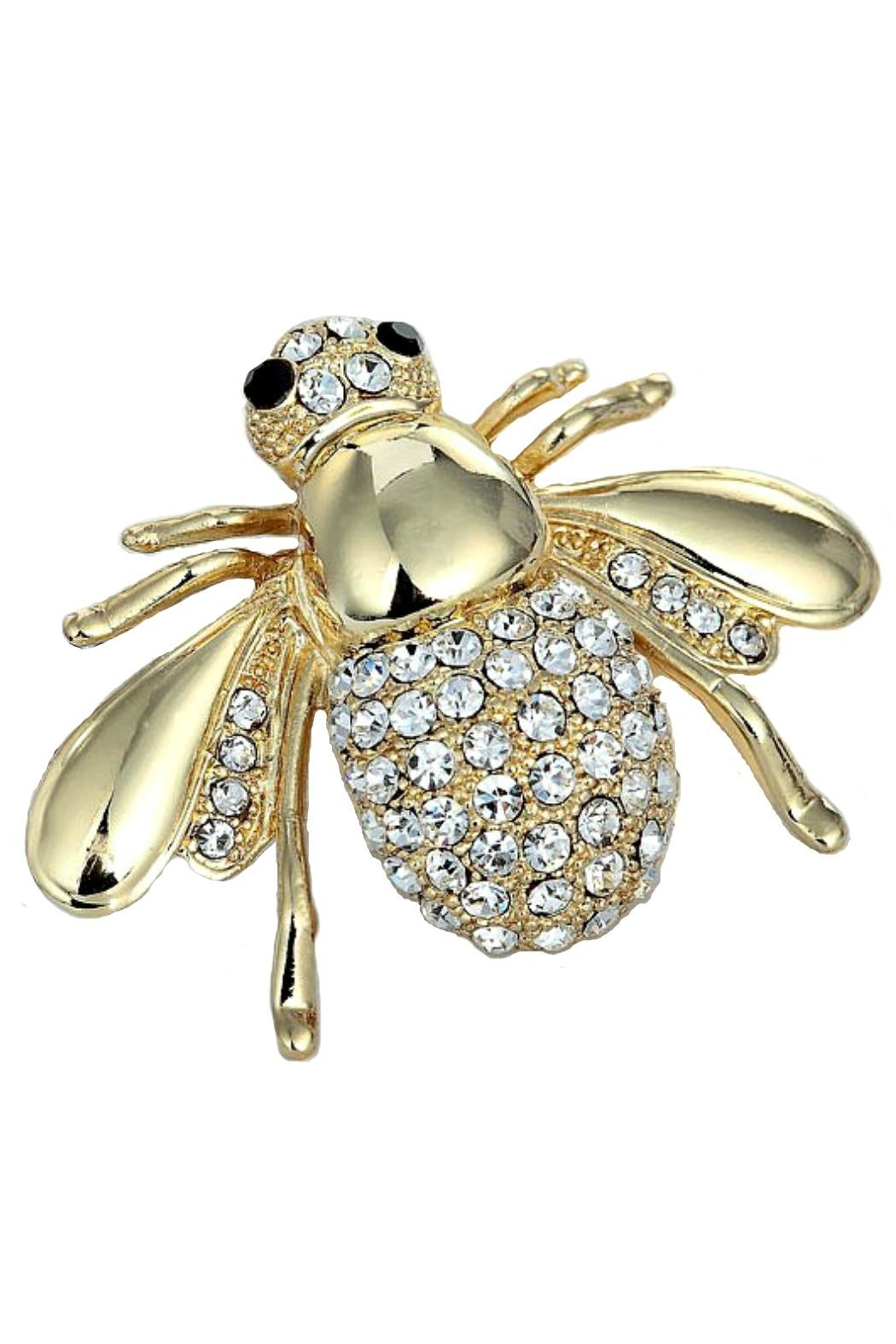 L'Imagine Jewel Bee Pin - Front Cropped Image