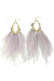 L'Imagine Lavender Beads Feather - Front cropped