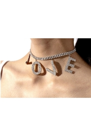 L'Imagine Love Pave Necklace - Front full body