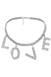 L'Imagine Love Pave Necklace - Front cropped