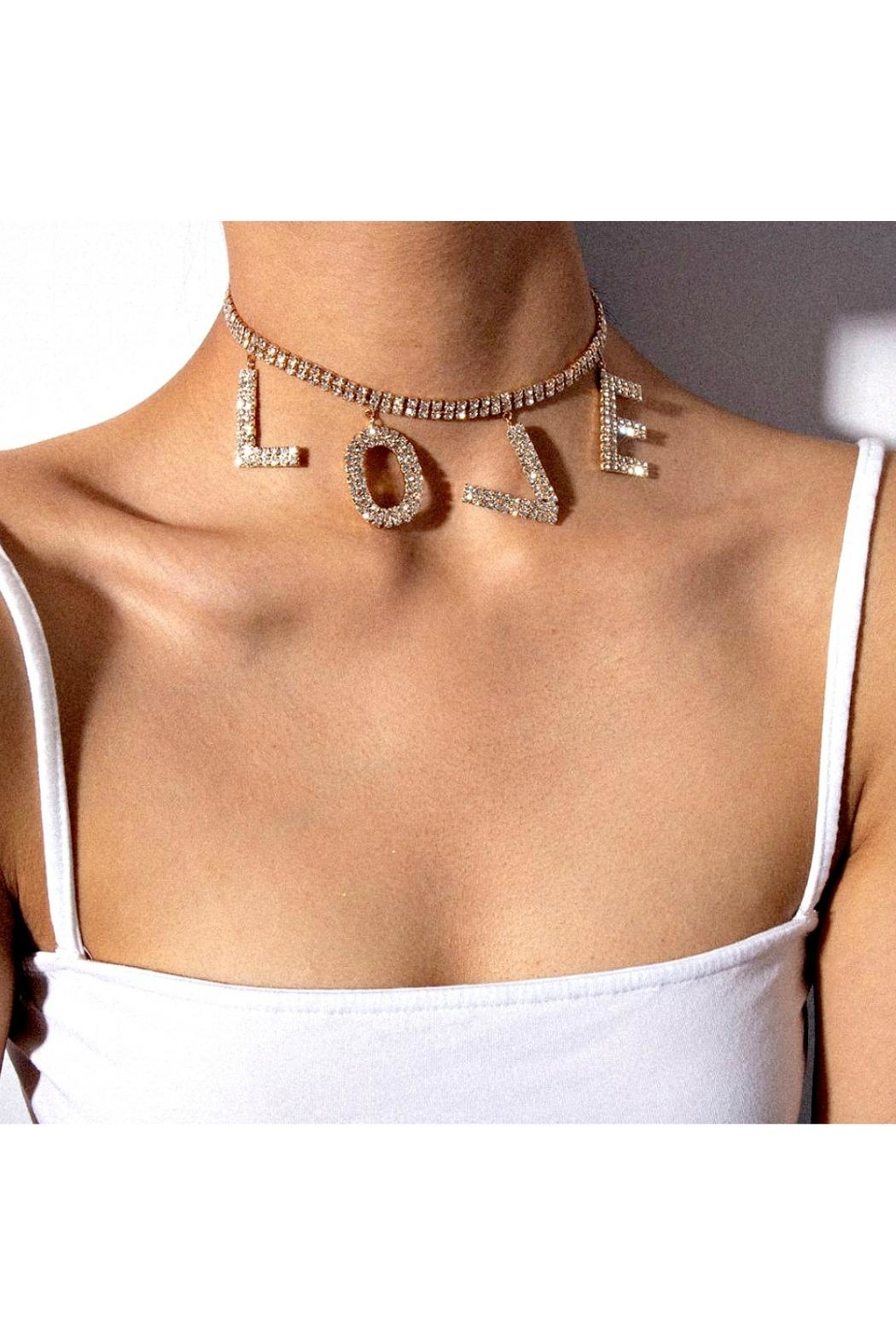 L'Imagine Love Pave Necklace - Front Full Image