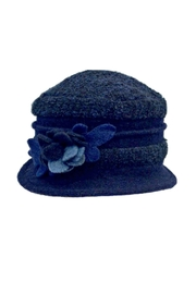 L'Imagine Navy Flower Hat - Front cropped