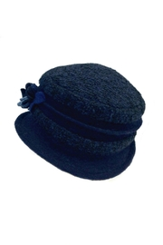 L'Imagine Navy Flower Hat - Front full body