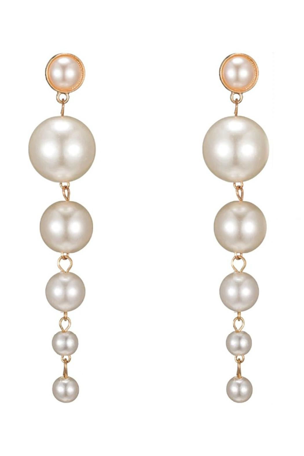 L'Imagine Pearl Dangle Earrings - Front Cropped Image