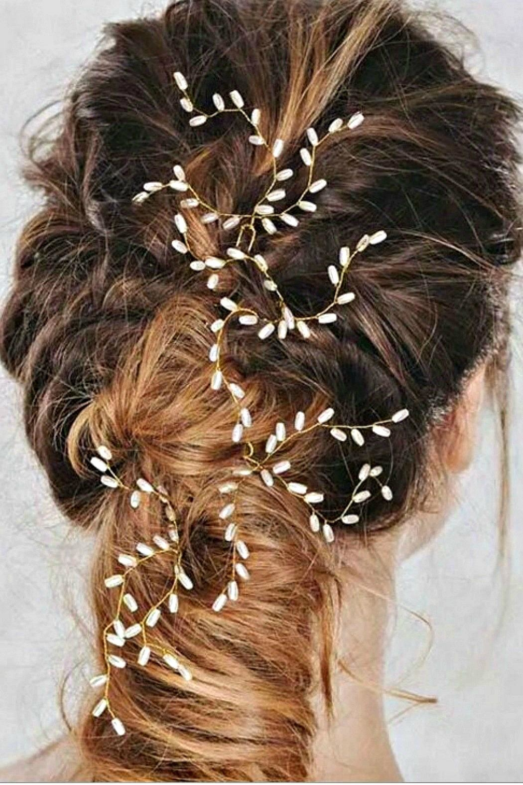 L'Imagine Pearl Hair Pin - Back Cropped Image