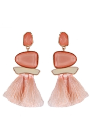 L'Imagine Pink Tassel Earrings - Product Mini Image