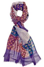 L'Imagine Purle Patchwork Scarf - Front cropped