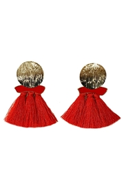 L'Imagine Red Tassel Earrings - Product Mini Image