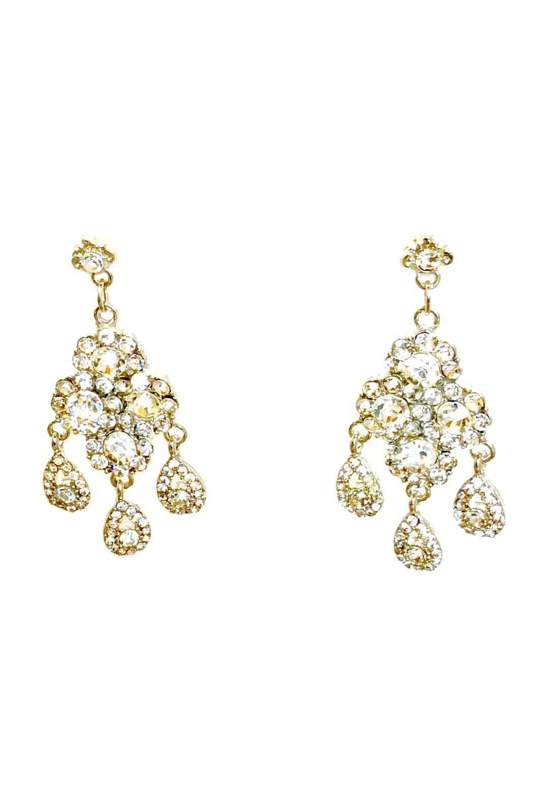 L'Imagine Rhinestone Chandelier Earrings - Main Image