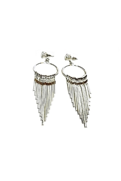 L'Imagine Rhinestone Hoop Tassels - Alternate List Image