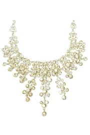 L'Imagine Rhinestone Statement Necklace - Front full body