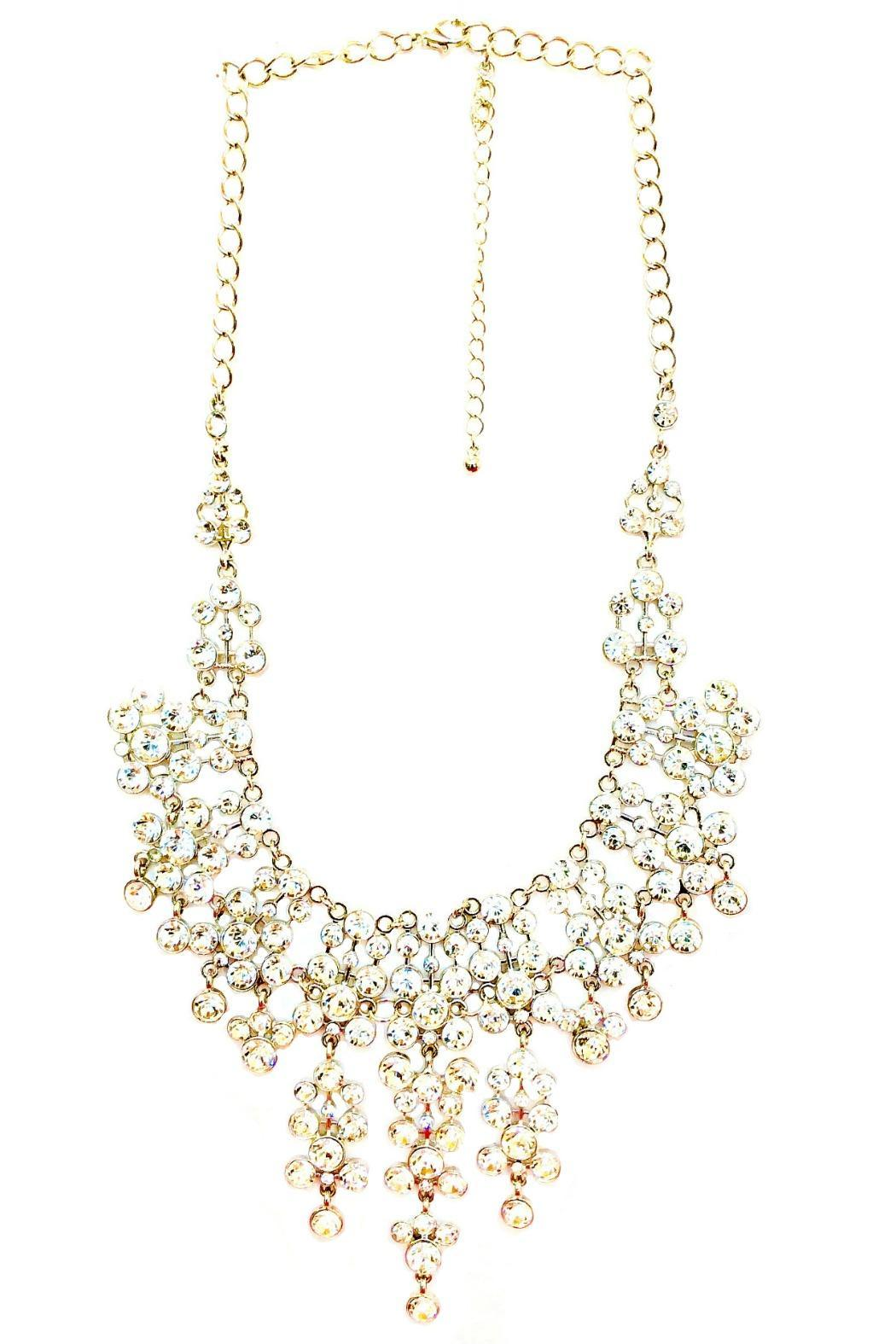 L'Imagine Rhinestone Statement Necklace - Front Cropped Image