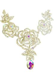 L'Imagine Rose Crystal Necklace - Front full body