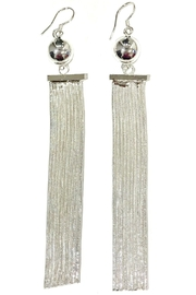 L'Imagine Silver Tassel Earrings - Product Mini Image