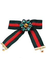 L'Imagine Stripes Pin Brooch - Front cropped