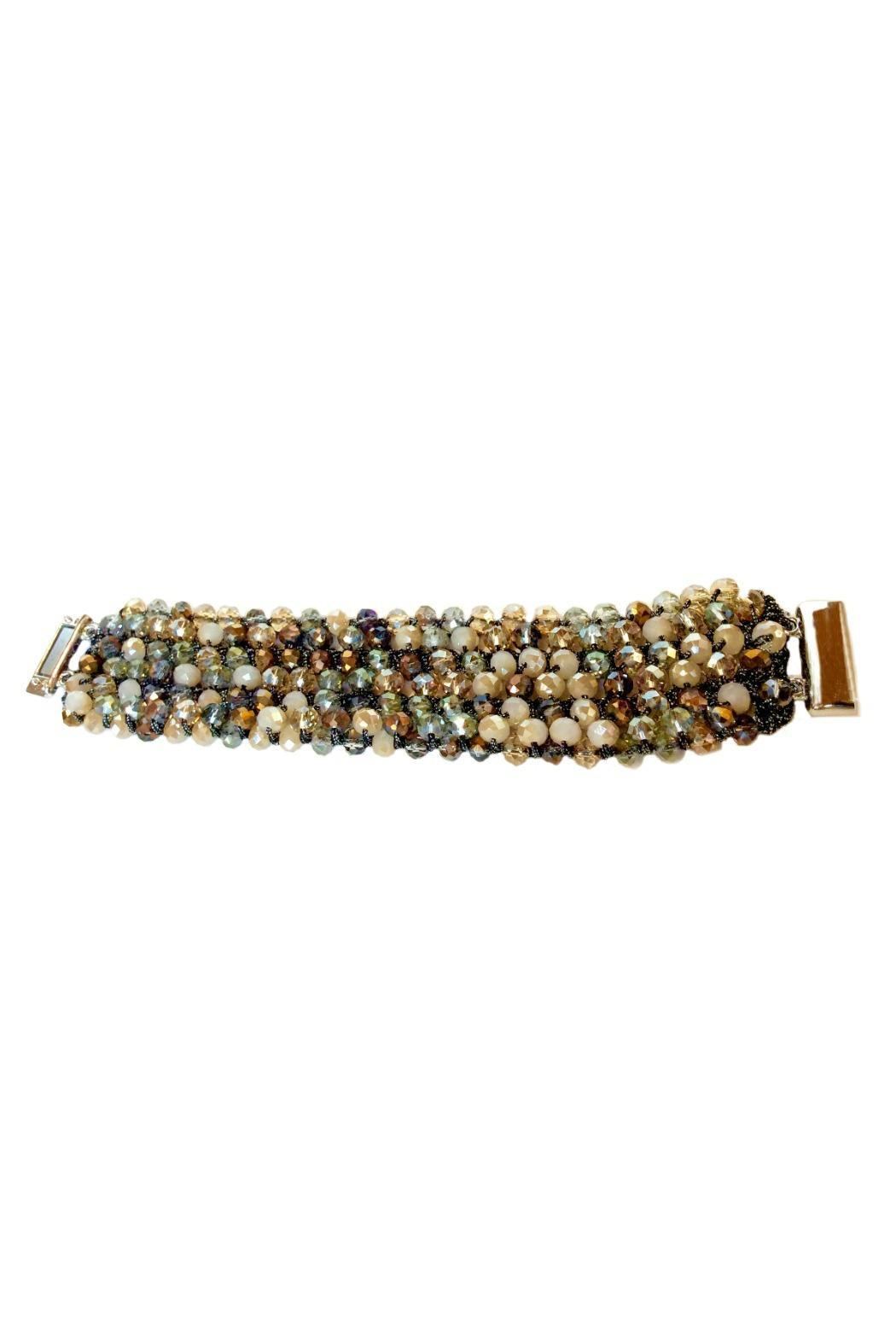 L'Imagine Tan Beads Bracelet - Front Full Image
