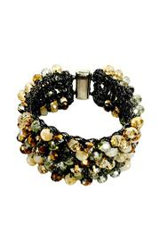 L'Imagine Tan Beads Bracelet - Front cropped