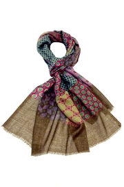 L'Imagine Taupe Patchwork Scarf - Product Mini Image