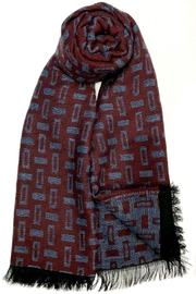 L'Imagine Wine Reversible Scarf - Front cropped