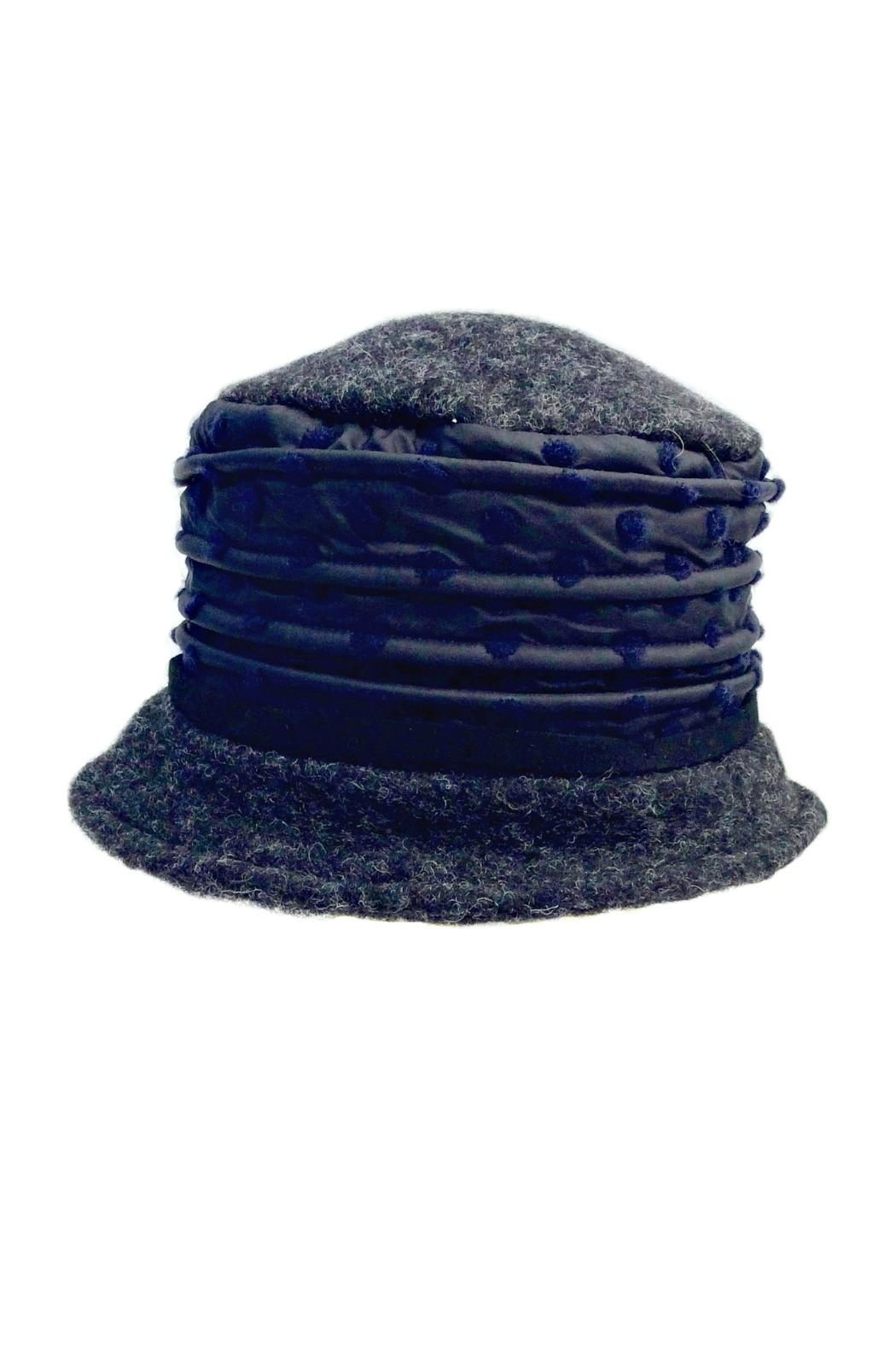 L'Imagine Wool Dots Hat - Front Cropped Image