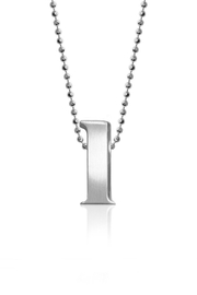 Alex Woo L Initial Necklace - Front cropped