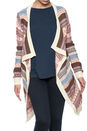 L. Love Mauve Stripe Cardigan - Product Mini Image