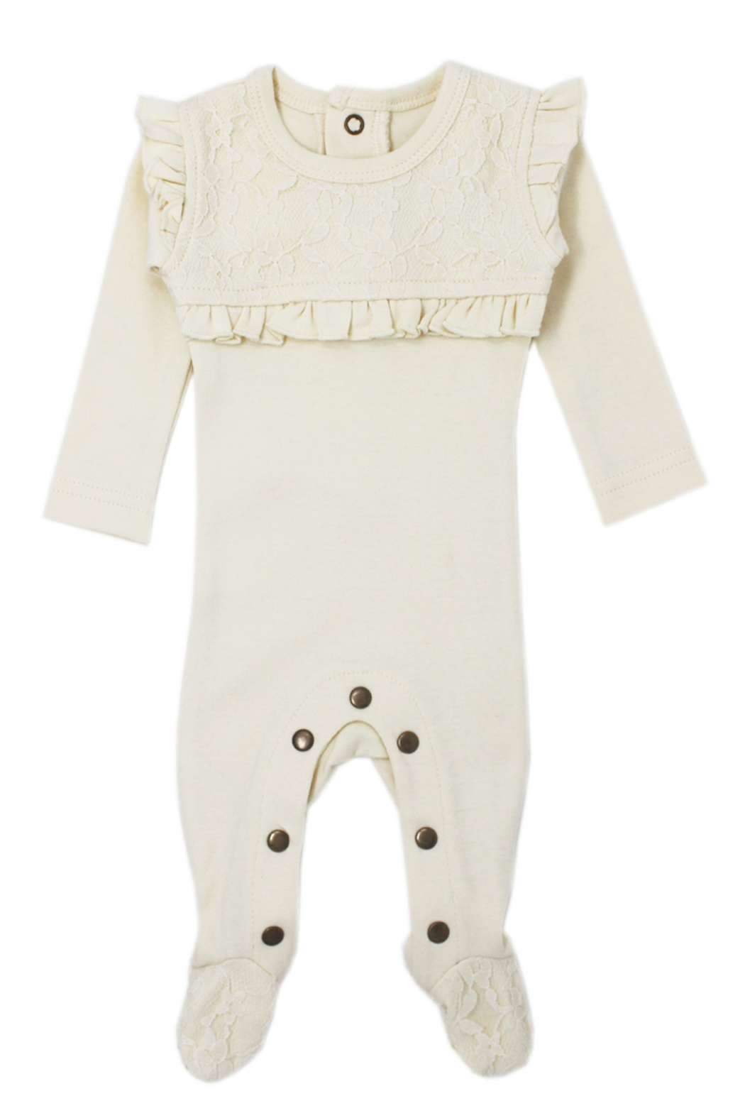 Lovedbaby L'OVEDBABY Infant Baby Organic Smocked Overall Footie - Main Image