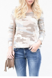 Venti6 L/S Camo Top with Lurex trim - Product Mini Image