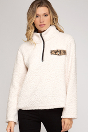She and Sky Long Sleeve Faux Shearling Top - Product Mini Image