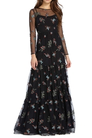 Ml Monique Lhuillier L/S Floral Gown - Product Mini Image