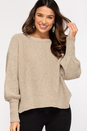 She and Sky Long Sleeve Knit Sweater Jumper - Product Mini Image