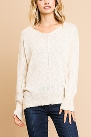 Umgee L/S KNIT VNECK TOP - Front cropped